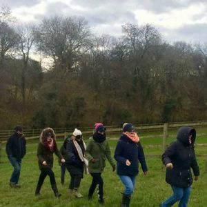 Explore your senses in a shamanic pracitce: Blindfold Walk - Wild and Home