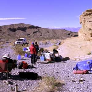 Our camp in Death Valley